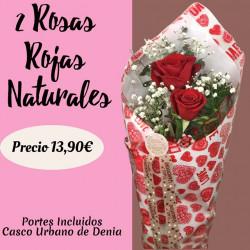 Arreglo de 2 Rosas Rojas...