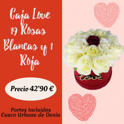 LOVE CAJA DE 19 ROSAS...