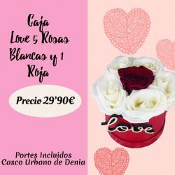 LOVE CAJA DE 5 ROSAS...