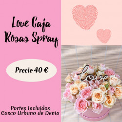 LOVE CAJA ROSAS SPRAY