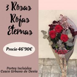 3 Rosas Rojas Eternas
