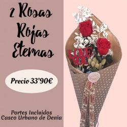 2 Rosas Rojas Eternas